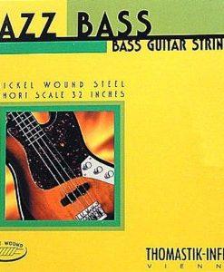 Thomastik-Infeld Bass Guitar Strings: Jazz Flat Wounds Nickel Flat Wound; Round Steel Core - Single G String